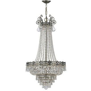 Crystorama Majestic Collection 8-light Historic Brass/Crystal Chandelier