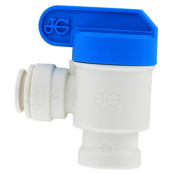"JG Speedfit PPSV501222WP 3/8"" X 1/4"" NPFT Female Elbow Shut Off Valve"