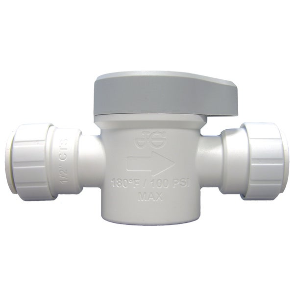 "JG Speedfit PSEISV20P 1/2"" Straight Shut Off Valve"