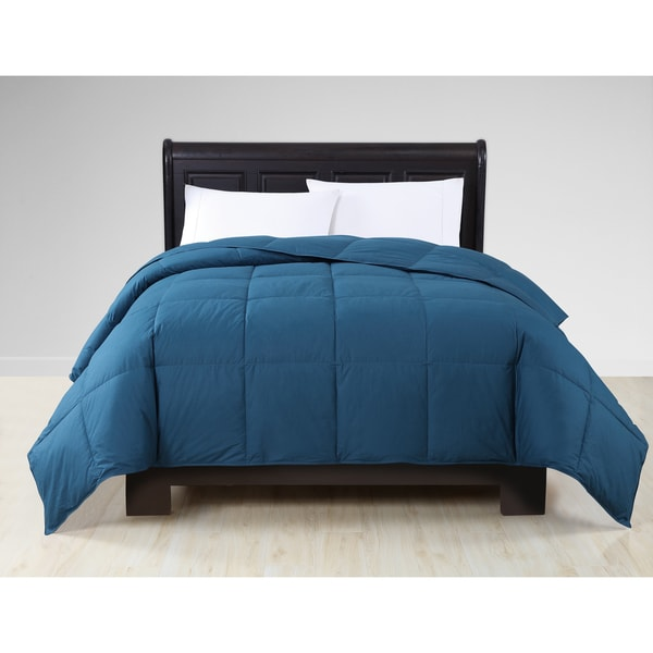 VCNY Solid Color Cotton Down King Size Comforter in Iron (As Is Item)