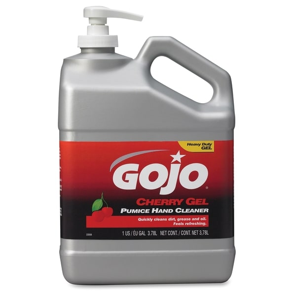 Gojo Gallon Pump Cherry Gel Pumice Hand Cleaner