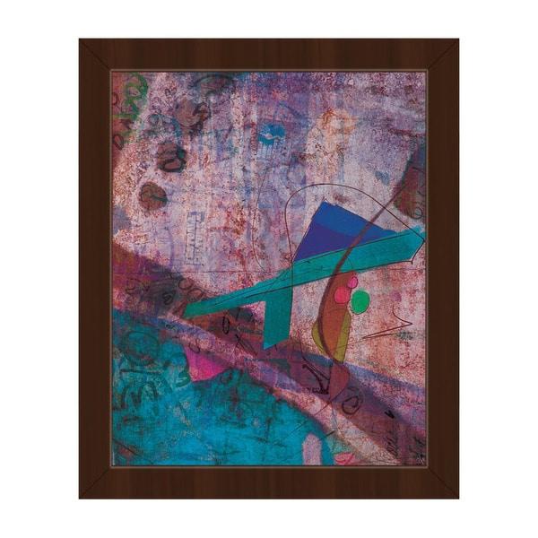 Azure Champloo' Framed Canvas Wall Art