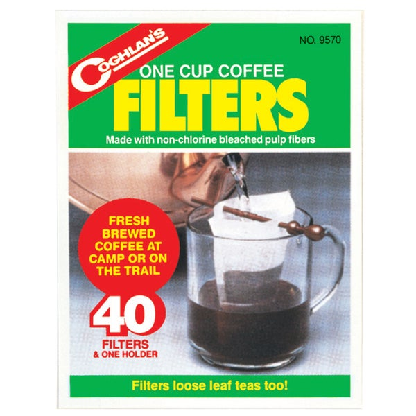 Coghlans 9570 One Cup Coffee Filters 40-count 20462770