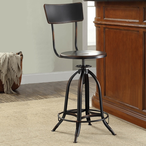 Rune Adjustable Metal Stool