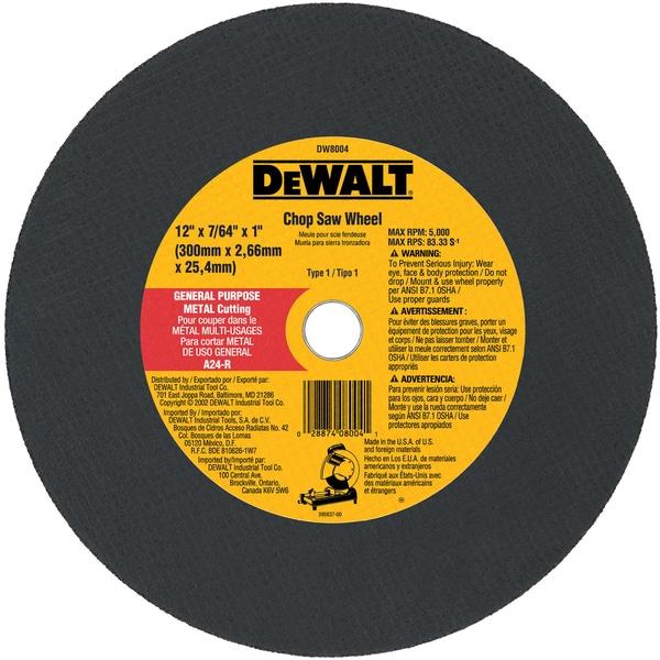 """DeWalt DW8004 12"""" Metal Cutting Blade"""
