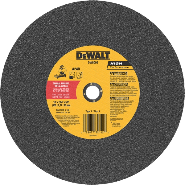 "DeWalt DW8005 10"" Metal Cutting Blade"