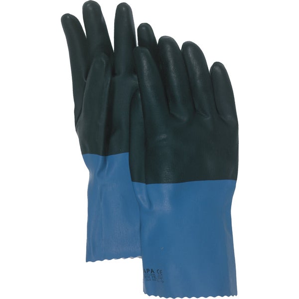"Boss Gloves 34L 12"" Large Supported Neoprene Coated Chemical Gloves 20463249"