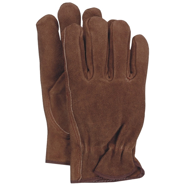 Boss Gloves 4066L Large Smoke Brown Unlined Split Leather Gloves