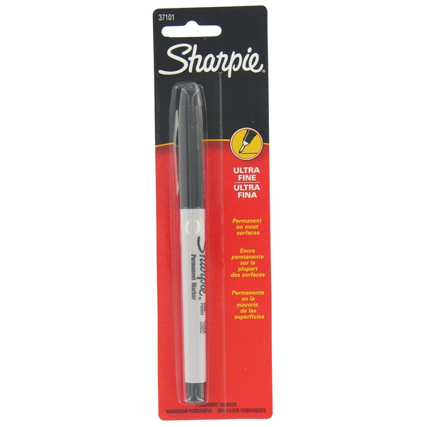 Sharpie 37101 Black Ultra Fine Point Sharpie Permanent Markers