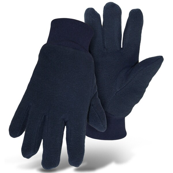 Boss Gloves 4405ML Large Navy Insulated Artic Fleece Gloves