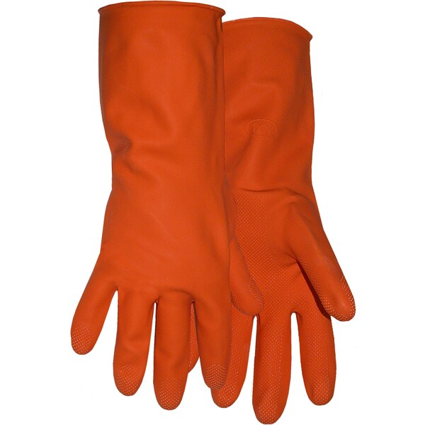 "Boss Gloves 4708L 12"" Orange Latex Lined Gloves"