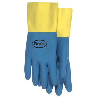 "Boss Gloves 55L 14"" Flock Lined Neoprene & Latex Gloves"