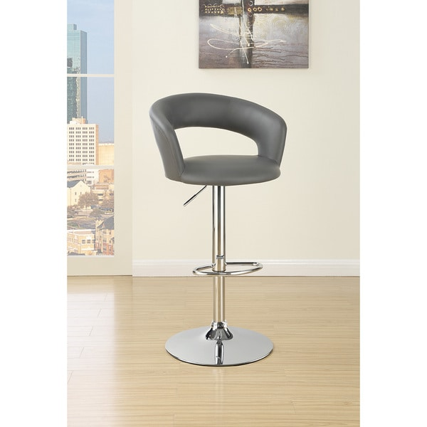 Coaster Grey Padded Bar Stool