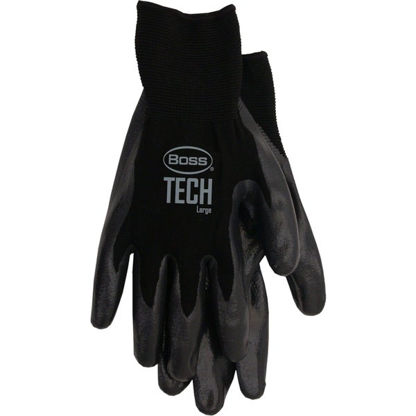 Boss Gloves 7820L Black Boss Tech Premium Gloves