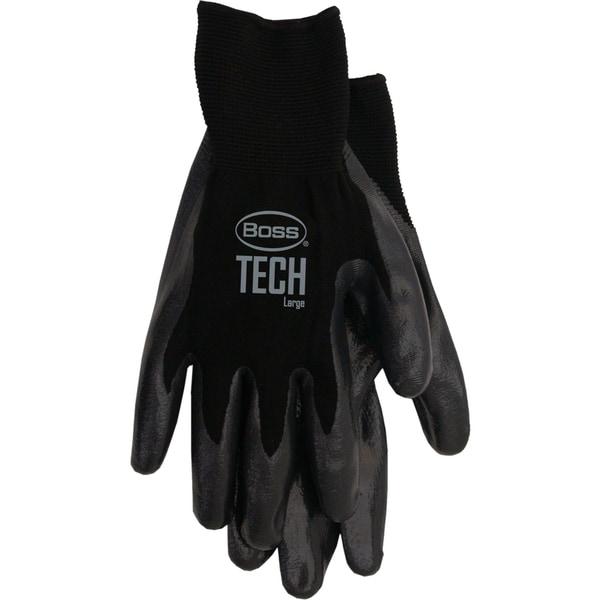 Boss Gloves 7820L Black Boss Tech Premium Gloves