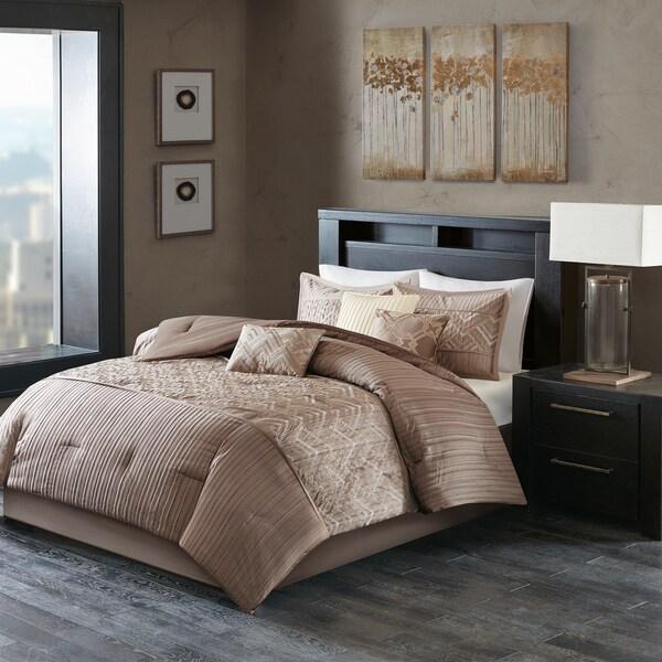 Madison Park Julien Taupe Comforter Set