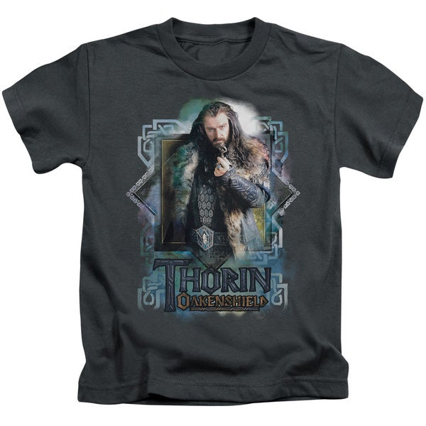 The Hobbit/Thorin Oakenshield Short Sleeve Juvenile Graphic T-Shirt in Charcoal