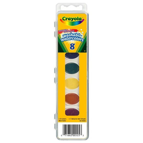 Crayola 53-0525 8 Color Washable Watercolors