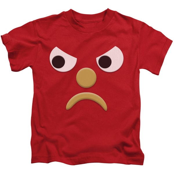 Gumby/Blockhead G Short Sleeve Juvenile Graphic T-Shirt in Red