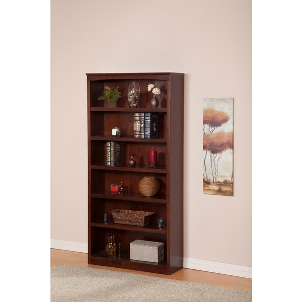 Atlantic Harvard Walnut-finished Wood 72-inch Book Shelf
