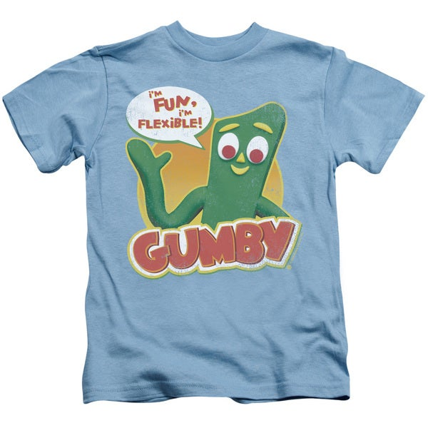 Gumby/Fun & Flexible Short Sleeve Juvenile Graphic T-Shirt in Carolina Blue