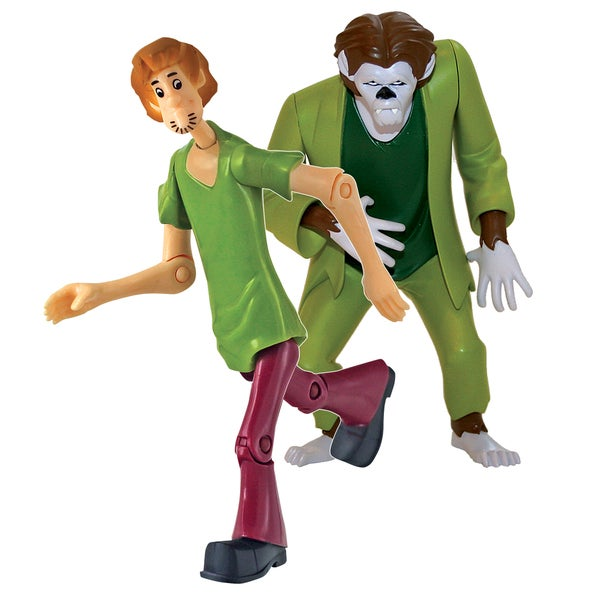 Scooby Doo Twin Pack 5 inch Action Figures Shaggy and the Wolfman