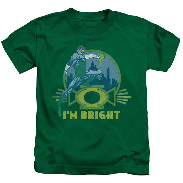 Green Lantern/I'M Bright Short Sleeve Juvenile Graphic T-Shirt in Kelly Green