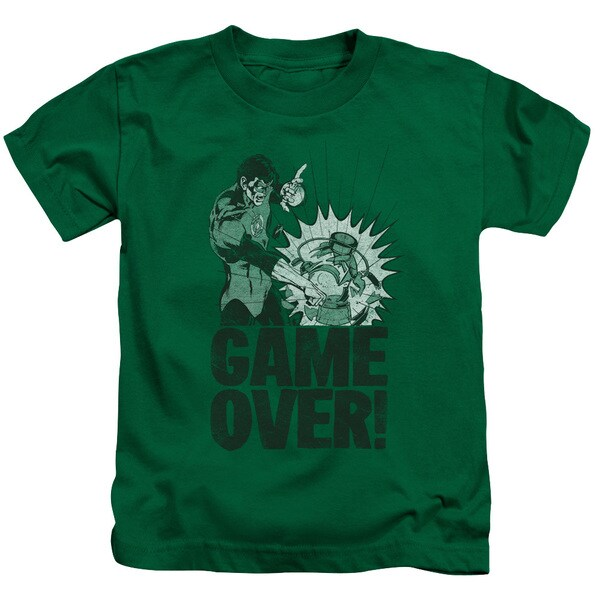 Green Lantern/Game Over Short Sleeve Juvenile Graphic T-Shirt in Kelly Green