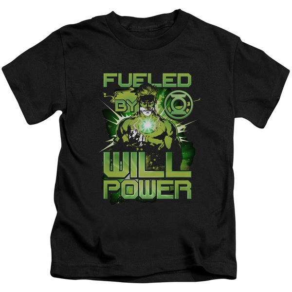 Green Lantern/Fueled Short Sleeve Juvenile Graphic T-Shirt in Black