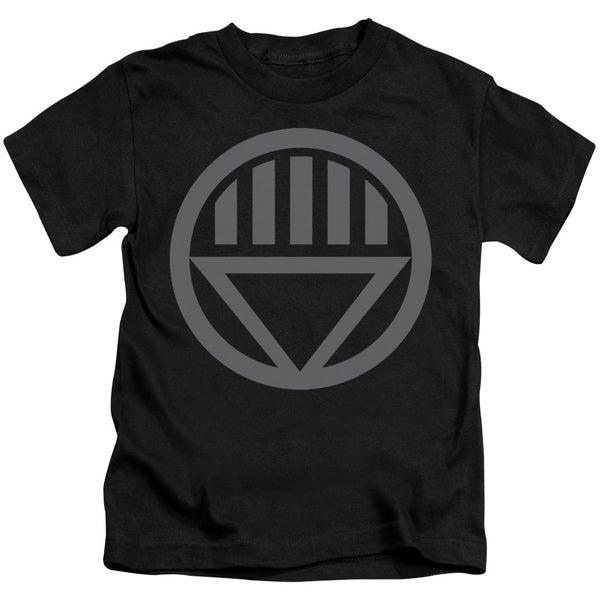 Green Lantern/Grey Emblem Short Sleeve Juvenile Graphic T-Shirt in Black