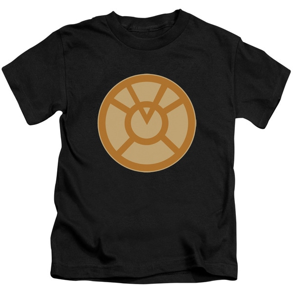 Green Lantern/Orange Symbol Short Sleeve Juvenile Graphic T-Shirt in Black