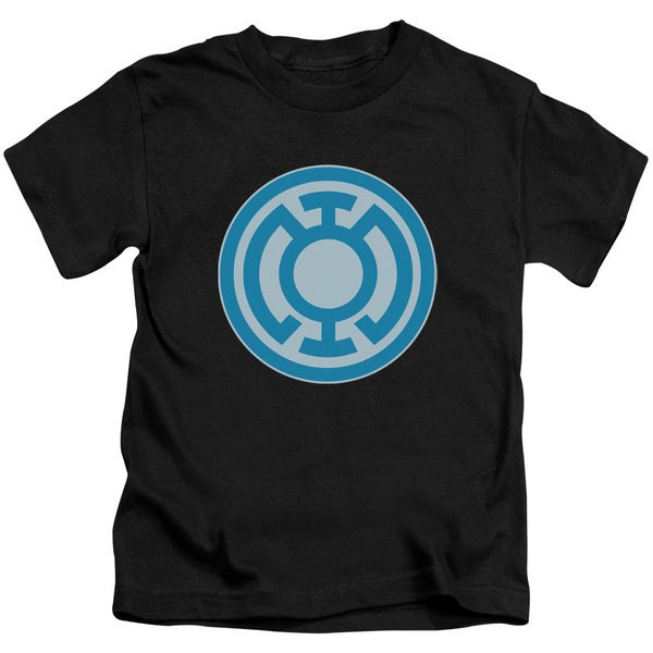 Green Lantern/Blue Symbol Short Sleeve Juvenile Graphic T-Shirt in Black