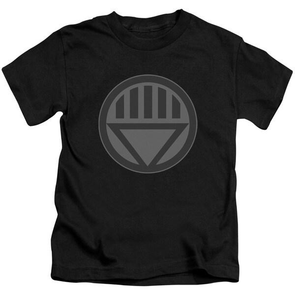 Green Lantern/Black Symbol Short Sleeve Juvenile Graphic T-Shirt in Black