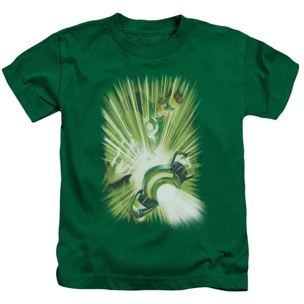 Green Lantern/Lantern's Light Short Sleeve Juvenile Graphic T-Shirt in Kelly Green