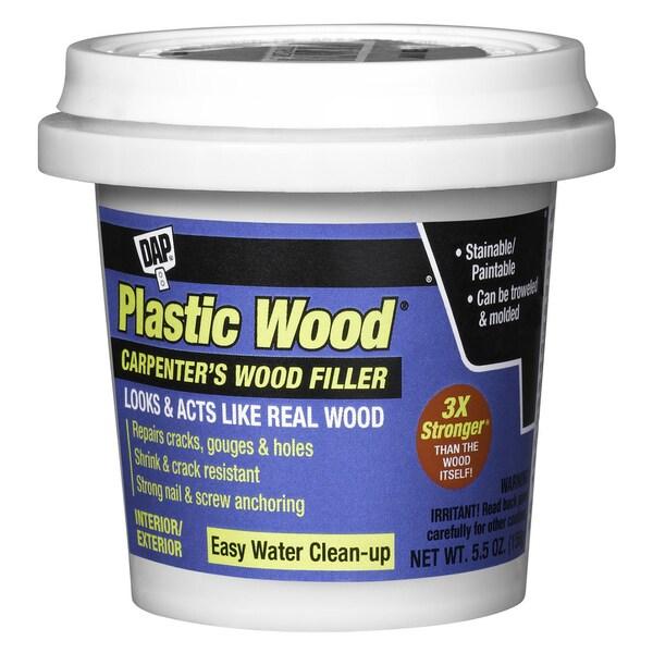Dap 08111 5.5 Oz Natural Plastic Wood Carpenter's Latex Wood Filler