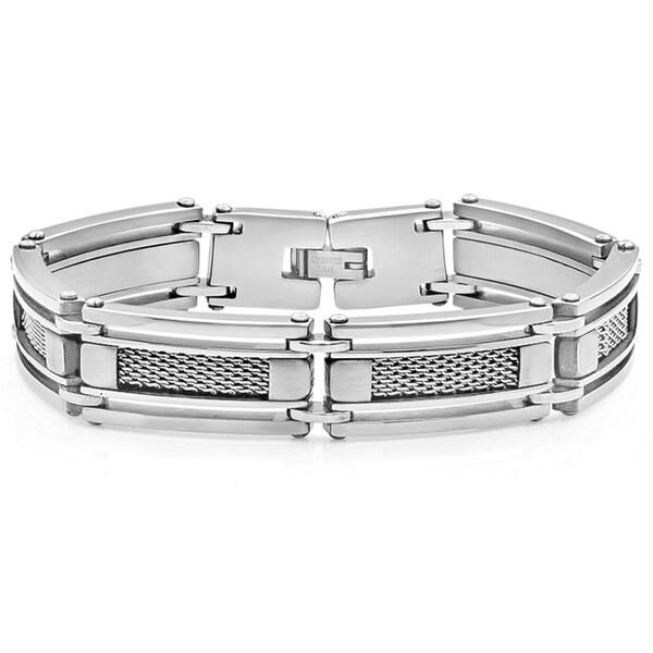 Silvertoned Carbon Fiber Bracelet