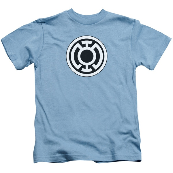 Green Lantern/Blue Lantern Logo Short Sleeve Juvenile Graphic T-Shirt in Carolina Blue