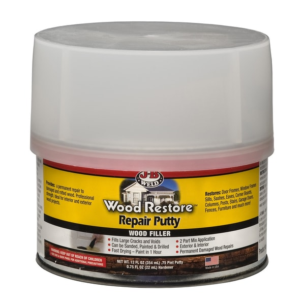 JB Weld 40003 12 Oz Wood Restore Repair Putty Wood Filler