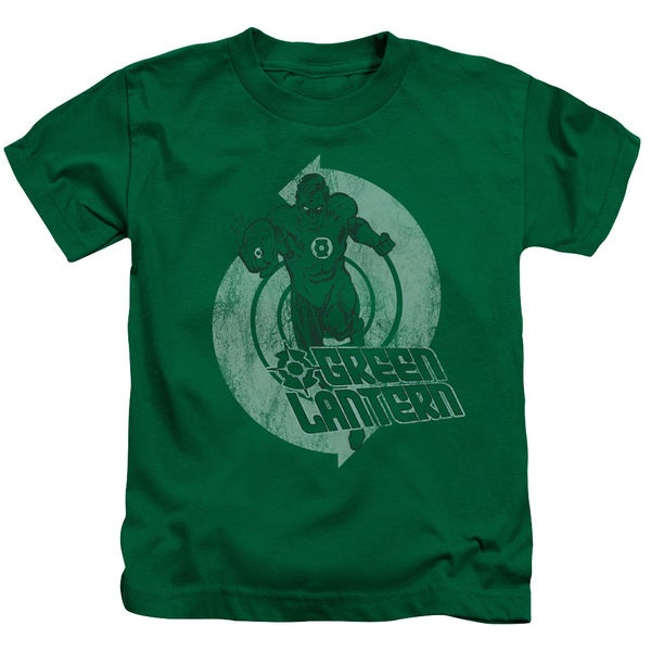 Green Lantern/Power Short Sleeve Juvenile Graphic T-Shirt in Kelly Green