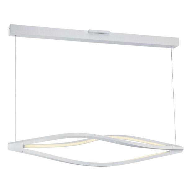 Maxim Lighting White Acrylic Cyclone LED Pendant 20467421