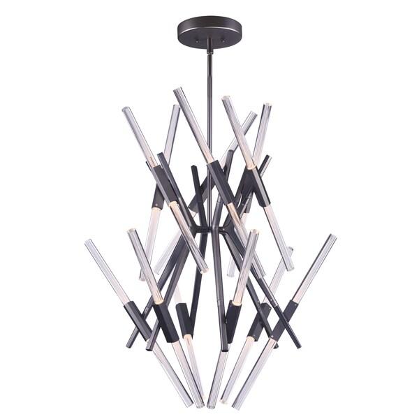 Light Saber Multi-Tier Black LED Chandelier