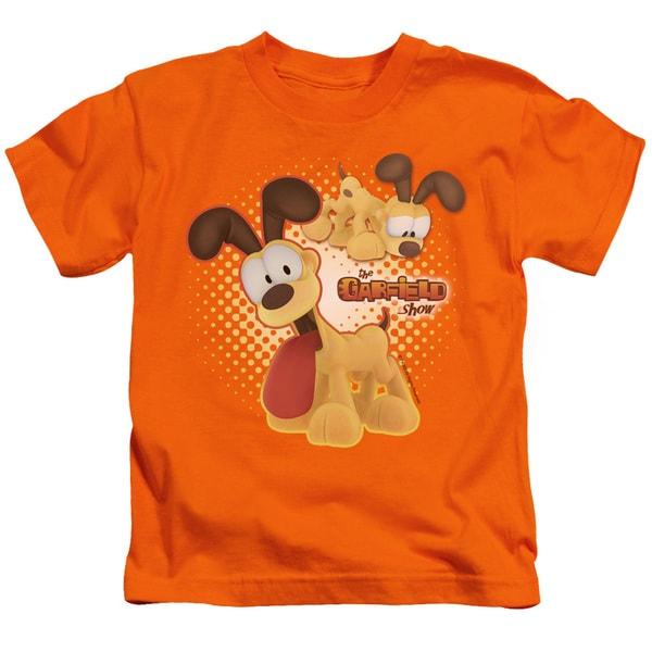 Garfield/Odie Short Sleeve Juvenile Graphic T-Shirt in Orange