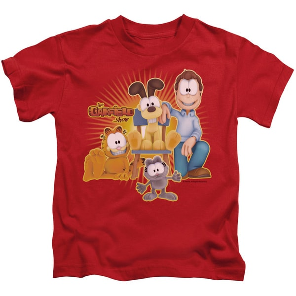 Garfield/Say Cheese Short Sleeve Juvenile Graphic T-Shirt in Red
