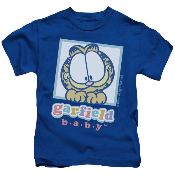 Garfield/Baby Garfield Short Sleeve Juvenile Graphic T-Shirt in Royal
