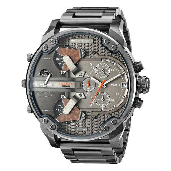 Diesel Men's DZ7315 Mr Daddy Black/Grey Stainless Steel Dual Zone Chronograph Watch