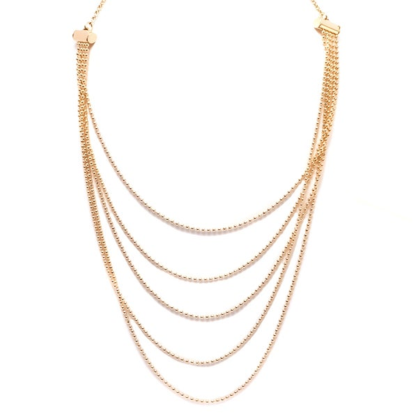 18K Gold-plated Multi-strand Ball Necklace