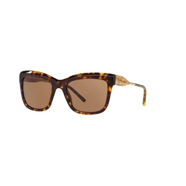 Burberry Women's BE4207 300273 Dark Havana Plastic Square Sunglasses w/ 56mm Lens