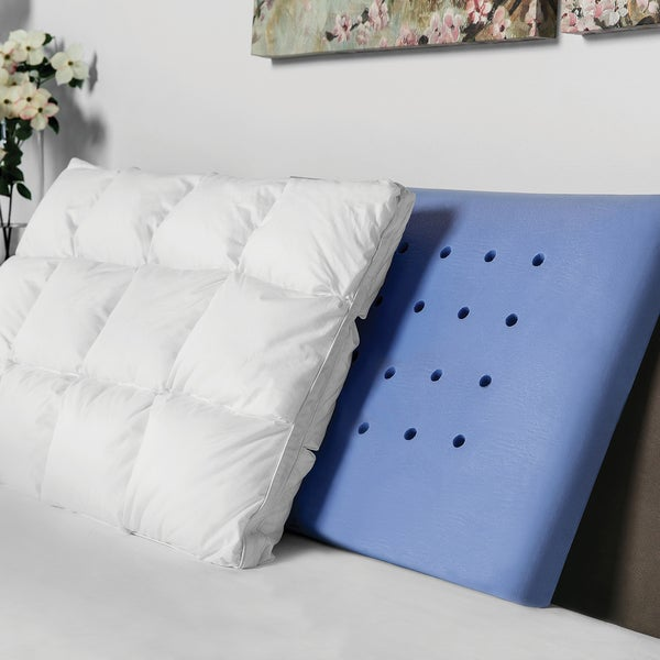The Baffled Dual Layer Memory Foam and Synthetic Down Pillow