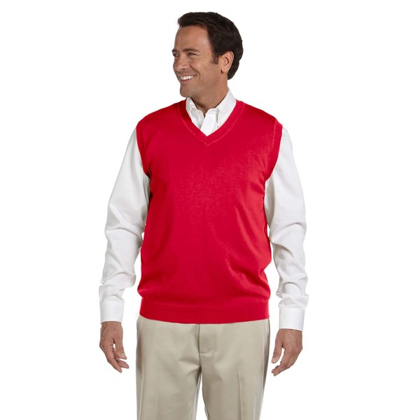 V-Neck Men's Red Vest