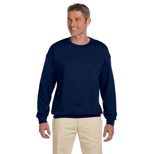 50/50 Super Sweats Nublend Fleece Men's Crew-Neck J Navy Sweater